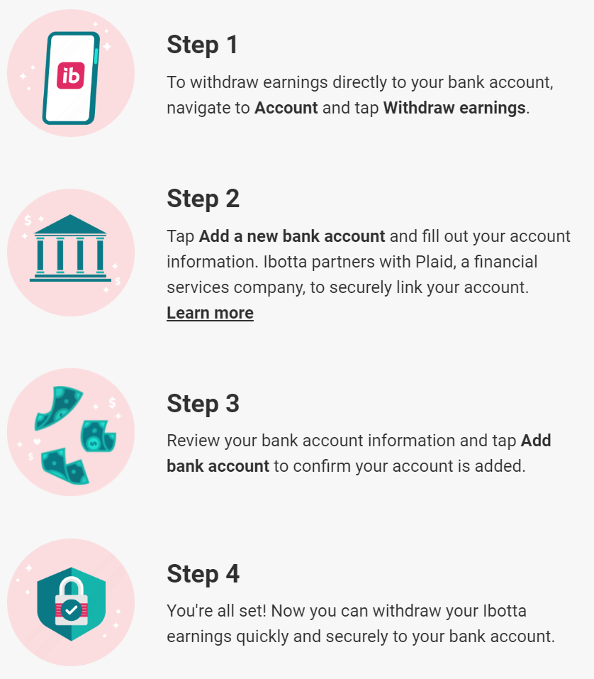 Steps to link Ibotta to your bank account